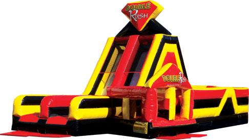 Double Rush LEFT Obstacle Course